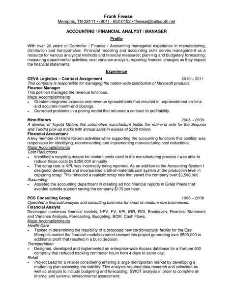Cost Accountant Cover Letter by Best Resume Of Finance Manager 36 Best Images About Best
