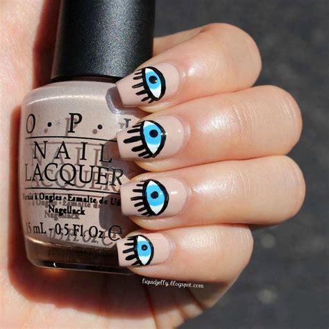 eye nail art tutorial alexa chung s evil eye nail art 183 how to paint a themed