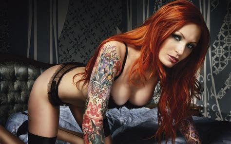 tattoo hot and red redhead with tattoos