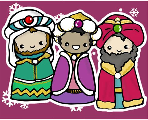 Imagenes De Los Reyes Magos Kawaii   reyes magos navidad gabbyriches kawaii pinterest