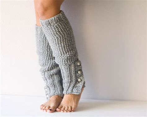 knit leg warmers grey knit leg warmers with buttons