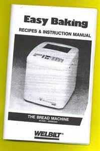 Welbilt Bread Machine Review Welbilt Abm 6000 Bread Machine Breadmaker Manual