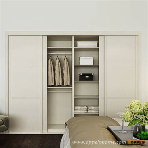 White Wardrobe Bedroom Yg16 M05 2016 Modern White Melamine Bedroom Wardrobe