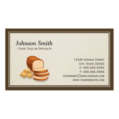 bakery business card template premium bakery business card templates