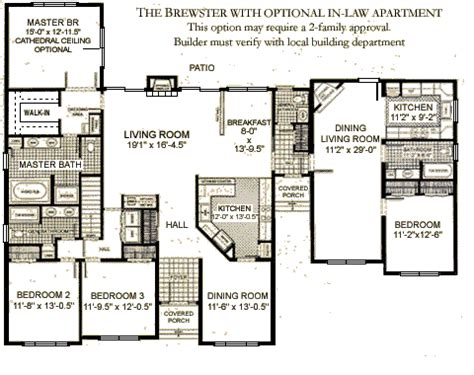 House Plans With Inlaw Apartments Ranches The Brewster Westchester Modular Homes Inc