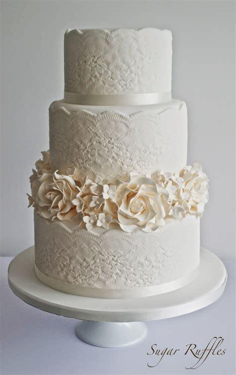Wedding Cake Lace by Sugar Ruffles Wedding Cakes Barrow In Furness