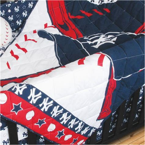 Yankee Crib Bedding Mlb New York Yankees Crib Bedding Set Baseball Quilt Bumper Pricefalls Marketplace