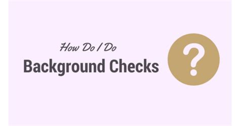How Do You Do A Background Check On Yourself How Do I Do Background Checks Gallant Background Checks