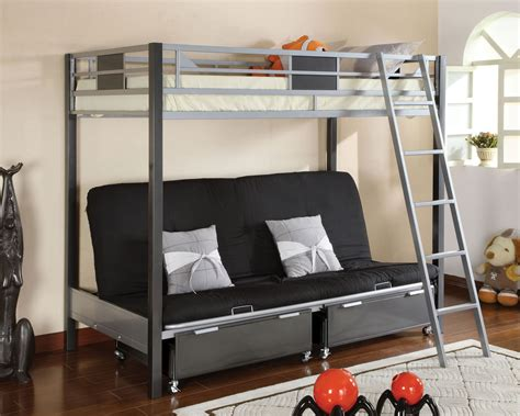 bunkbed with futon metal futon bunk bed roof fence futons