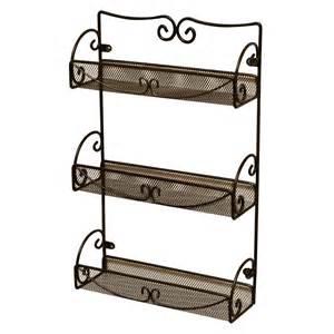 decobros 3 tier wall mounted spice rack bronze ebay
