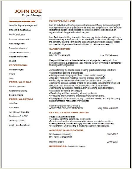 Project Manager Resume Sles Free by Resume Of Pmp Certified Project Manager 28 Images Resume Roy Interrante Pmp Best Program