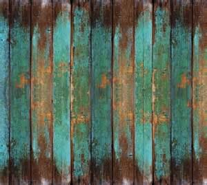 Turquoise wood mural wallpaper m9211 sample