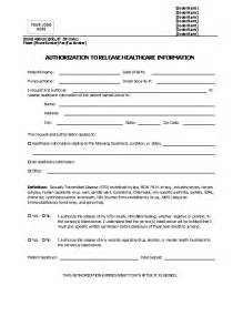 authorization form template sle authorization form printable templates