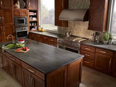 Kitchen countertop ideas with oak cabinets   Home