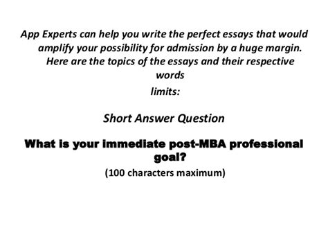 What Is Your Immediate Post Mba Professional Goal Sles by Columbia Business School Mba Guidelines