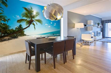 Outdoor Wall Murals Ideas photo wallpapers for dining room interior