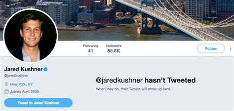 with his termed twitter account rubbishing the rumors his close friend accusations kushner deleted tweets today are fake news