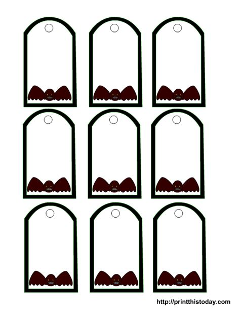 printable halloween tags halloween printable tags templates
