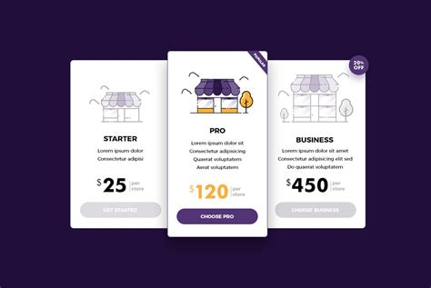 35 free creative pricing plan table psd template pricing table ui template psd download download psd