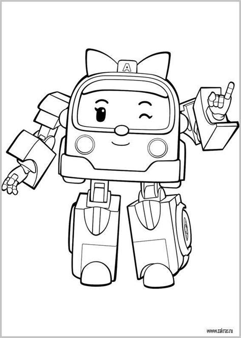 coloring pictures of a 15 best coloring pages robocar poli images on