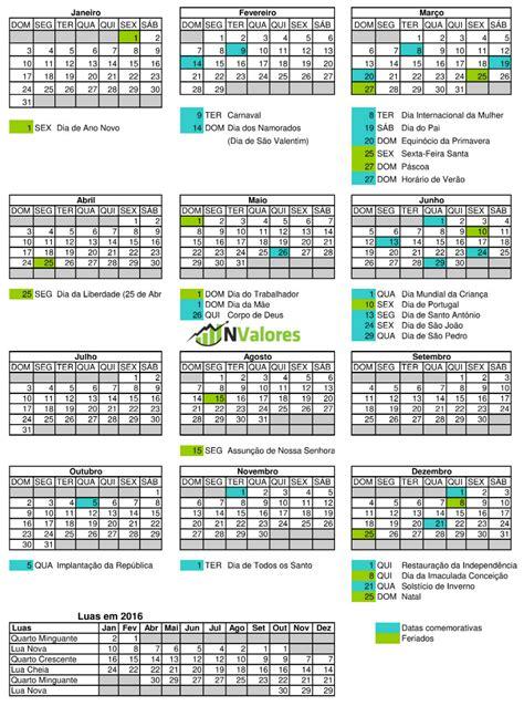 calend 225 2016 feriados e datas comemorativas