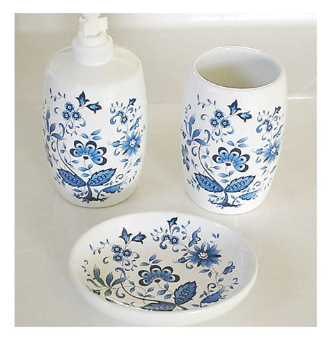 White And Blue Bathroom Accessories by Blue And White Porcelain Bathroom Accessories My Web Value