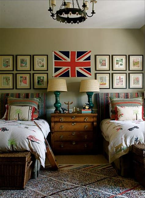 modern country style union jack inspired boys bedroom