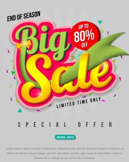 design poster reuni big sale creative poster vector 09 vector cover free