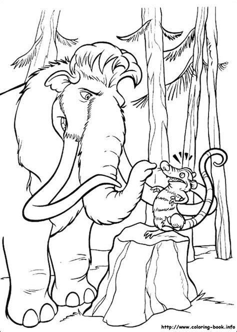 ice age coloring picture