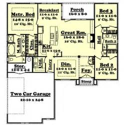 1800 Square Foot Ranch House Plans house plan 3 beds 2 baths 1800 sq ft plan 430 27 main floor plan