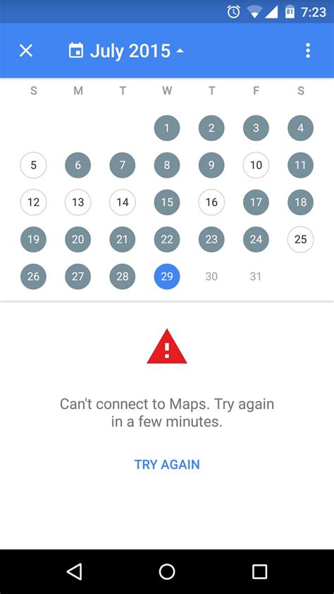 maps not working on android maps timeline feature not working says quot can t