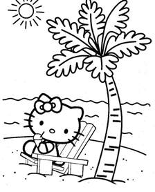 free printable beach coloring pages kids