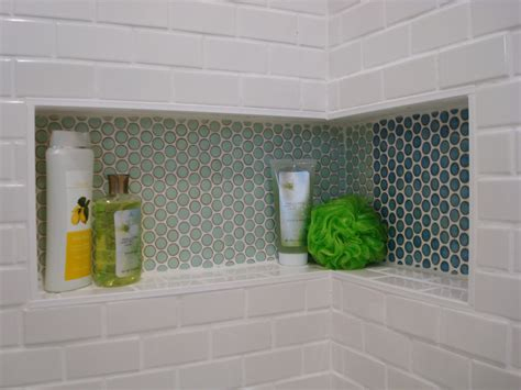 Bathroom Tile Shelves Corner Shower Shelf Bathroom Midcentury With Accent Tiles Bathroom Remodeling Beeyoutifullife