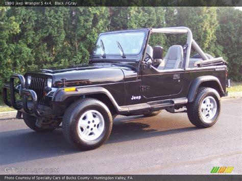 1990 Jeep Tj 1990 Jeep Wrangler S 4x4 In Black Photo No 35711091