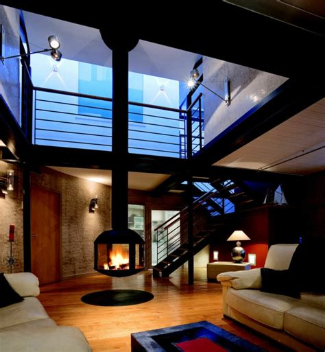 cheminée foyer idee salon