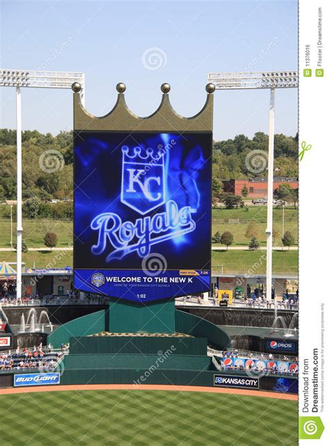 royals crown seats tickets kauffman stadium scoreboard kansas city royals editorial