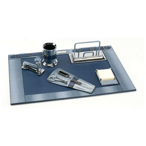 horizon pearlized shagreen deluxe leather desk set paolo