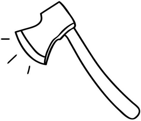 Hatchet Outline by Hatchet Coloring Pages Clipart Best