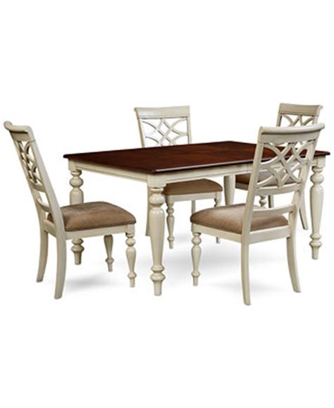 Dining Table Macys Windward 5 Pc Dining Set Dining Table 4 Side Chairs Furniture Macy S