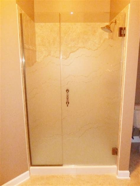Sandblasted Shower Doors Door Inline Panels Etched Sandblasted Shower Doors Creative Mirror Shower