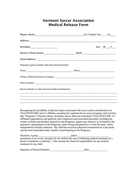 transportation release form template release form in word and pdf formats