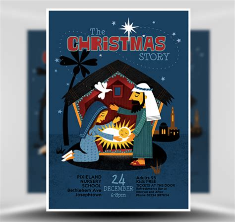 Christmas Nativity Flyer Template Flyerheroes Nativity Flyer Template