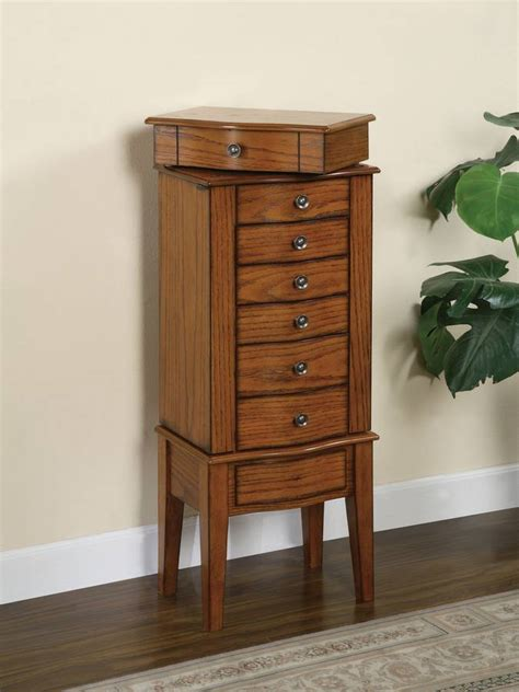 woodland oak jewelry armoire powell woodland oak jewelry armoire with lift off jewelry