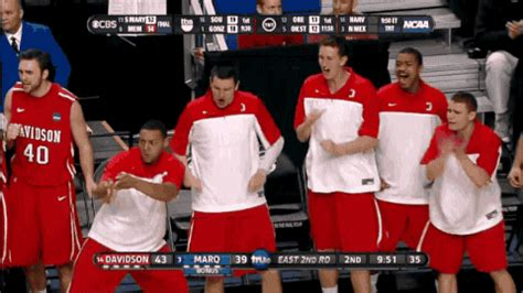 college basketball bench celebration bron style gif gallery ncaa bench warmers celebrating complex