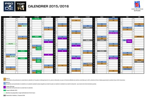 Calendrier Rugby Calendrier Saison 2015 2016 Us Carcassonne