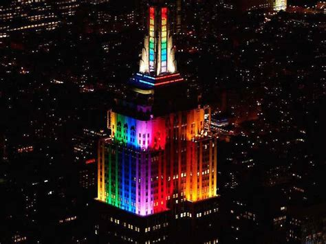 empire state building color the empire state building is lighting up in rainbow colors