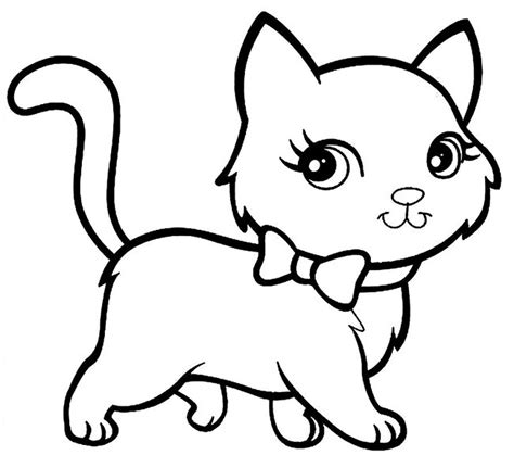 animal coloring pages kitten cat shape template animal templates free premium