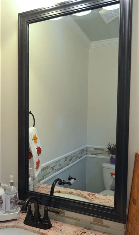 how to make a bathroom mirror frame how to frame a mirror with clips in 5 easy steps
