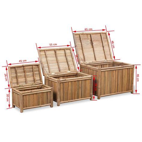 vidaxl co uk 3 bamboo storage boxes