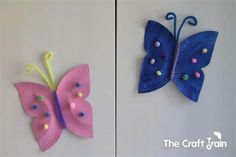 Paper Plate Butterfly Craft - paper plate butterflies